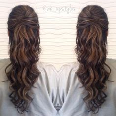 half up half down prom hairstyle ~ we ❤ this! moncheriprom.com