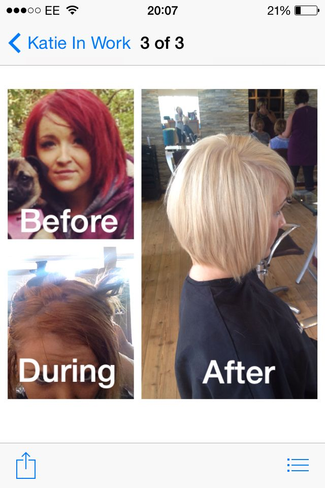 Colour Stripping Hair By Me Pinterest