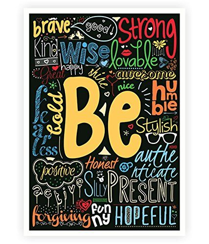 "Be Brave Loving Honest Happy Humble Forgiving.....more Life Inspirational Quotes Wall Decor A3 Size (16.5"" X 11.7"") Poster Lab No. 4 - The Quotography Department http://www.amazon.com/dp/B00KG1EDBU/ref=cm_sw_r_pi_dp_xPlzub1HT9TZ5"
