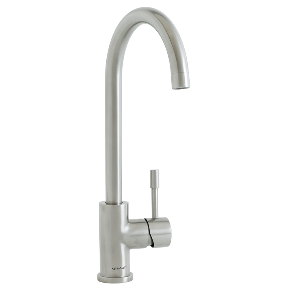 Cambridge Kitchen Tap Brushed Steel • Side Mounted single lever ...