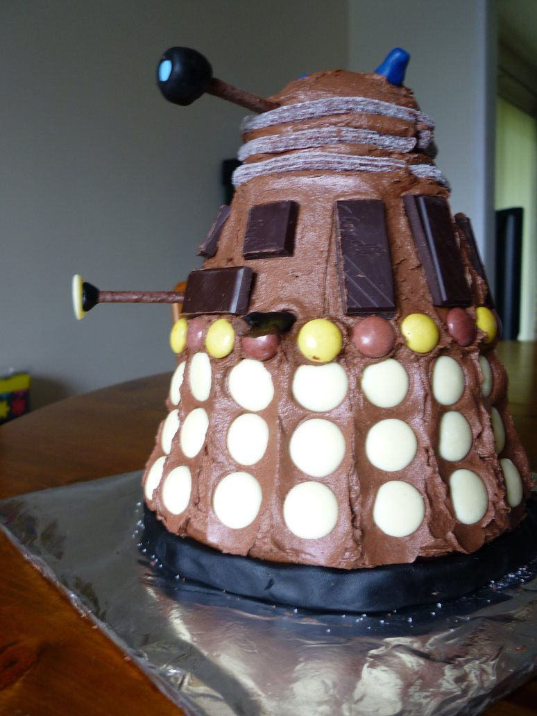 Dalek Cake Doctor Who This Ones A Little More In My Skill Level