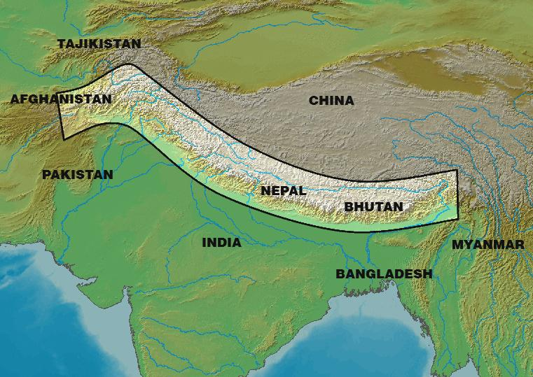 The Longest Mountain Ranges In The World With List Mountain Range Himalayas Adventure Activities