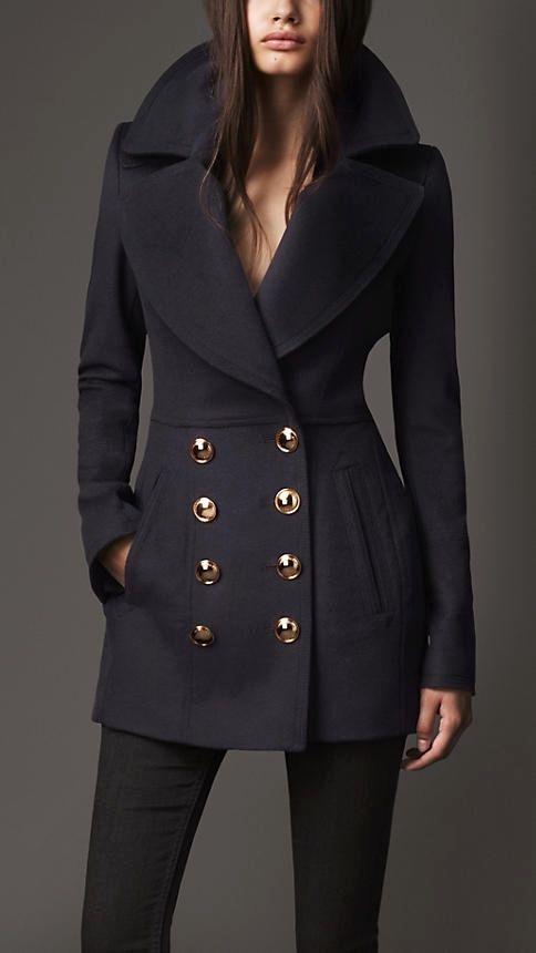 Wool Cashmere Pea Coat | Burberry | Fall Fashion | Pinterest ...