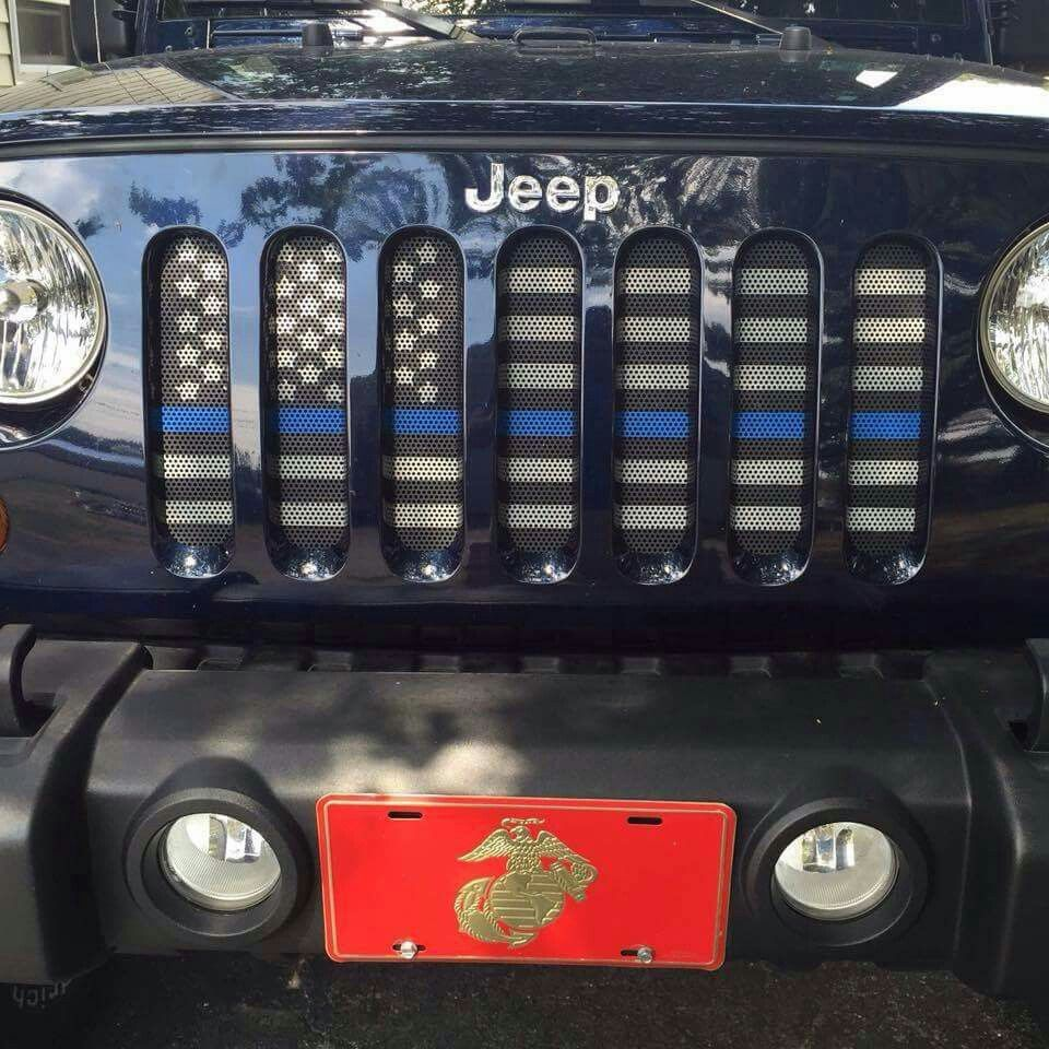 Flag Grill Insert For Jeep Wrangler Jeep Stickers Jeep Life Jeep Accessories