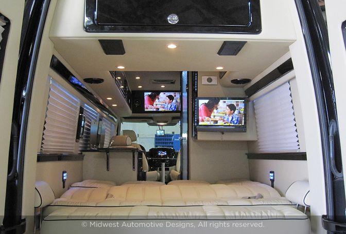 Custon Rv Mercedes Van Motorhome Interior Sprinter Camper