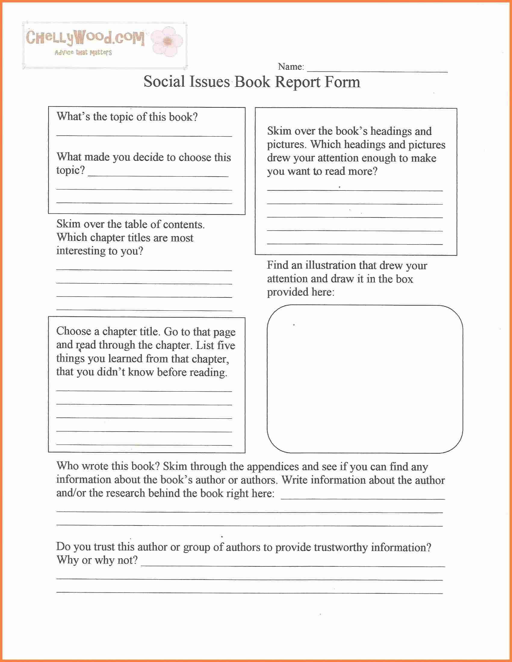 book report essay form