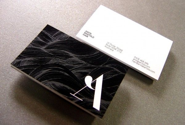 Anita bartolo hair business cards offset printed both side then spot anita bartolo hair business cards offset printed both side then spot uv on the front over the top of a solid matt varnish on blitz cast coated 300gsm card reheart Images