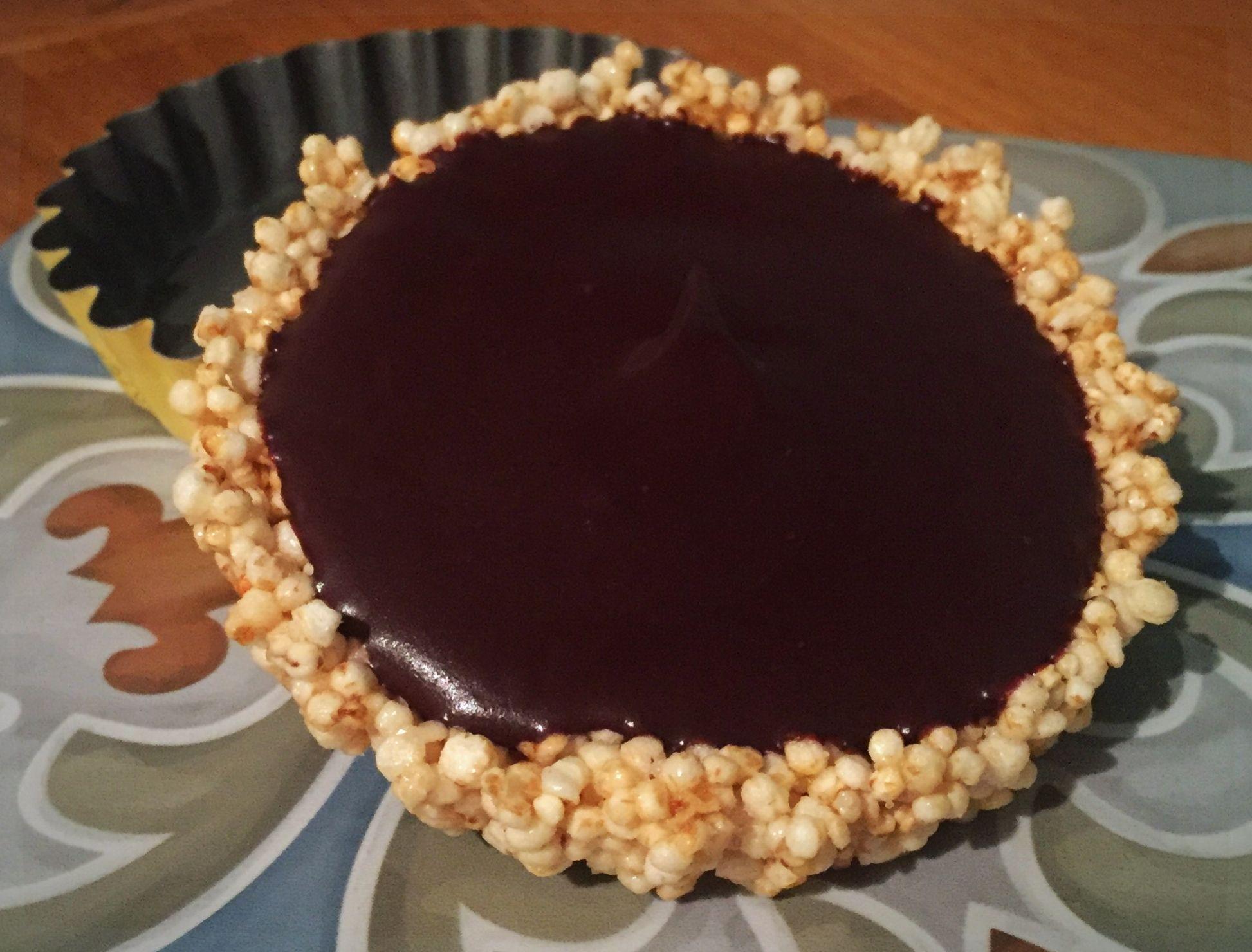 Tartelettes quinoa soufflé menthe chocolat