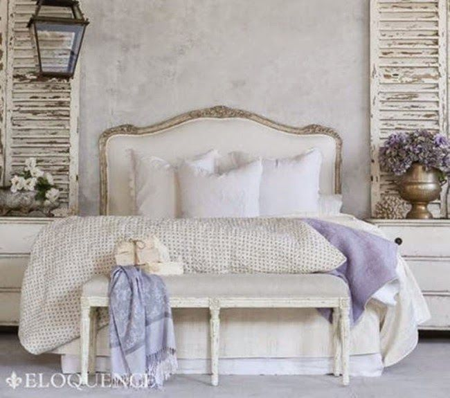 Boiserie c camere da letto 45 idee per ricreare lo stile shabby chic arredamento - Camere da letto country chic ...
