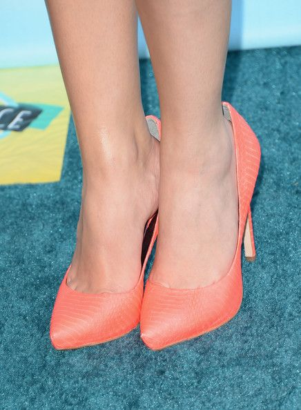 Actress Ashley Benson (fashion detail) attends the Teen Choice Awards 2013 at Gibson Amphitheatre on August 11, 2013 in Universal City, California.