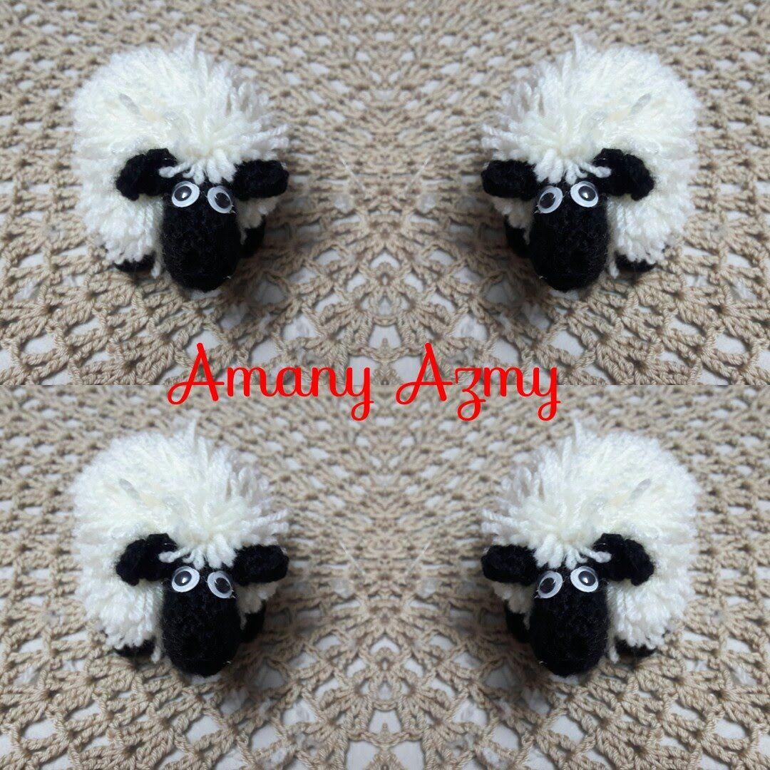 خروف العيد بالكروشيه How To Make Crochet Sheep Crochet Sheep Crochet Crochet Toys