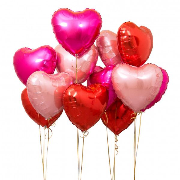 f13114b3a9fe Inflated Red Mix Heart Balloons Delivered - Bubblegum Balloons - Luxury  Balloons