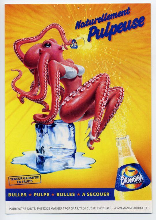 """Explanation: Poulpe=Octopus / Pulpe=Pulp....she is """"pulpeuse"""" or...poulpeuse perhaps..."""