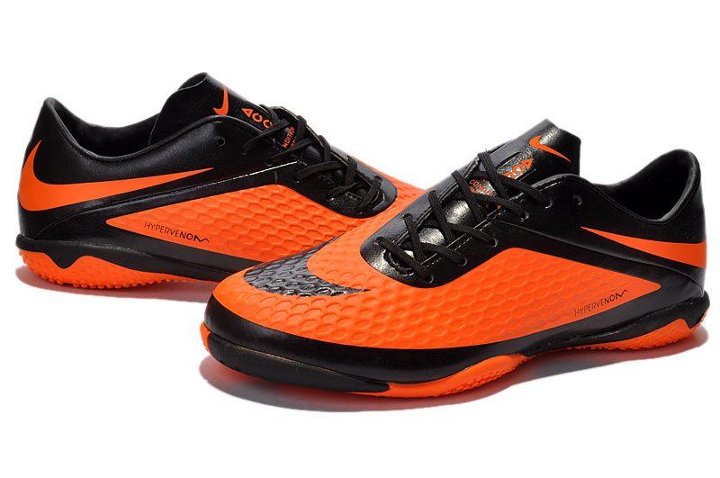 2014 New Nike HyperVenom Phelon Indoor soccer shoes orange-black on  sale,for Cheap