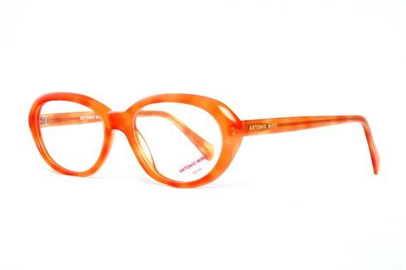 85a05a70d3909 vintage orange glasses - oval eyeglasses frame for women - quality ...