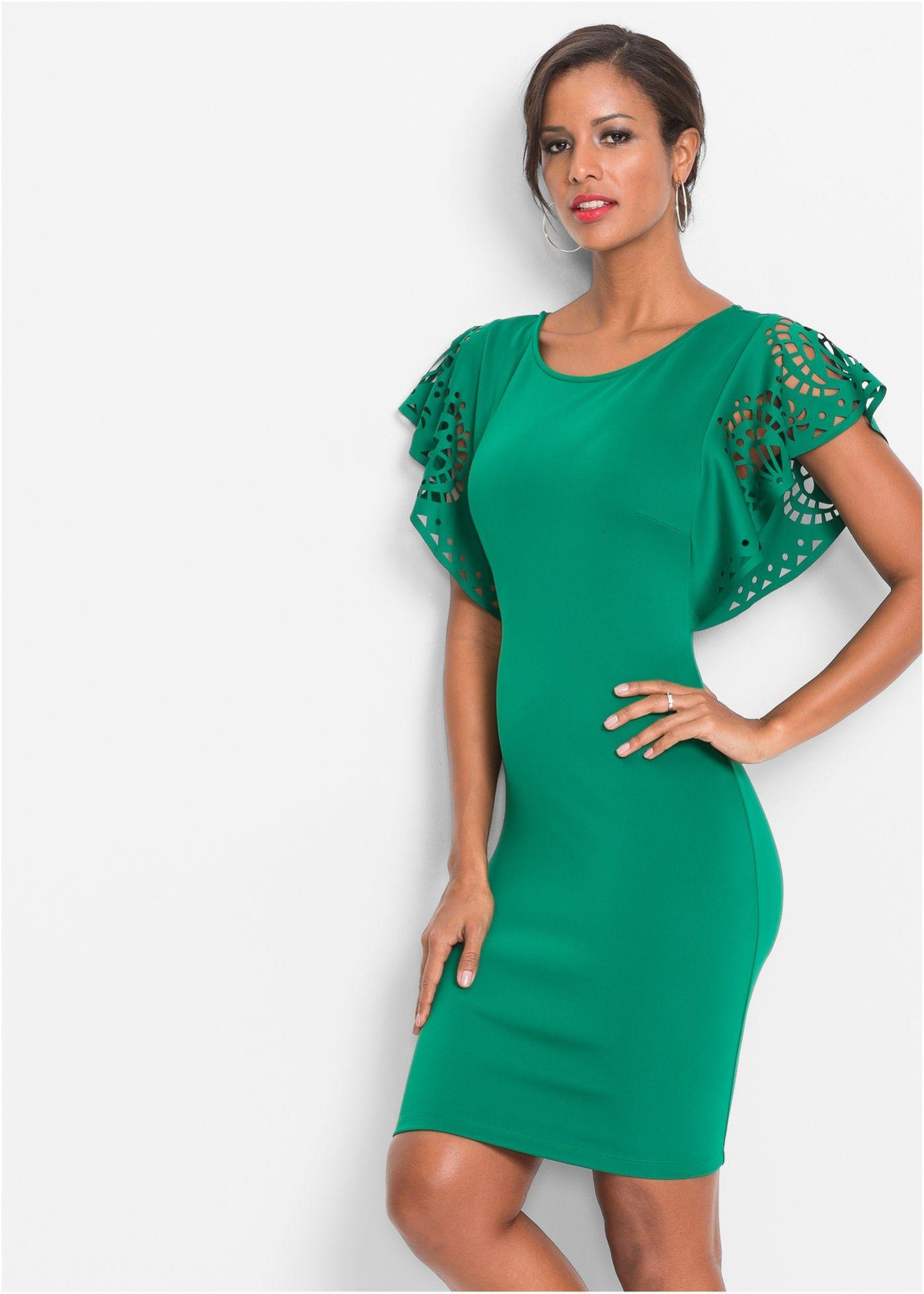 bcaf46f8401f Kleid mit Cut-Outs grün jetzt im Online Shop von bonprix.de ab ? 37 ...