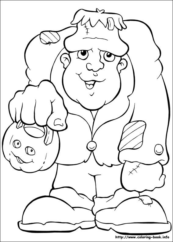 Halloween coloring picture | Coloring pages | Pinterest | Halloween ...