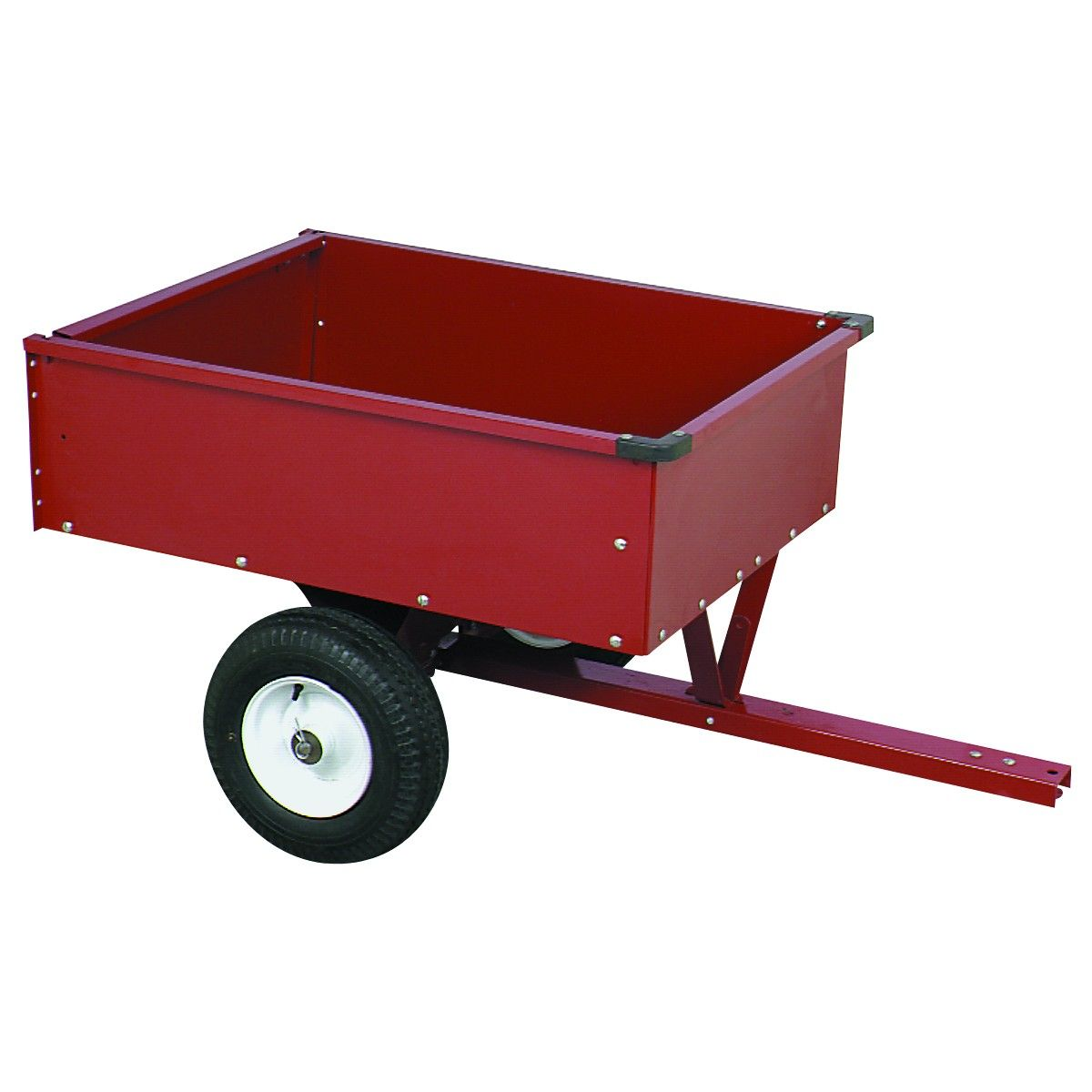 10 Cubic Ft Heavy Duty Trailer Cart In 2020 Trailer Heavy Duty Dump Trailers