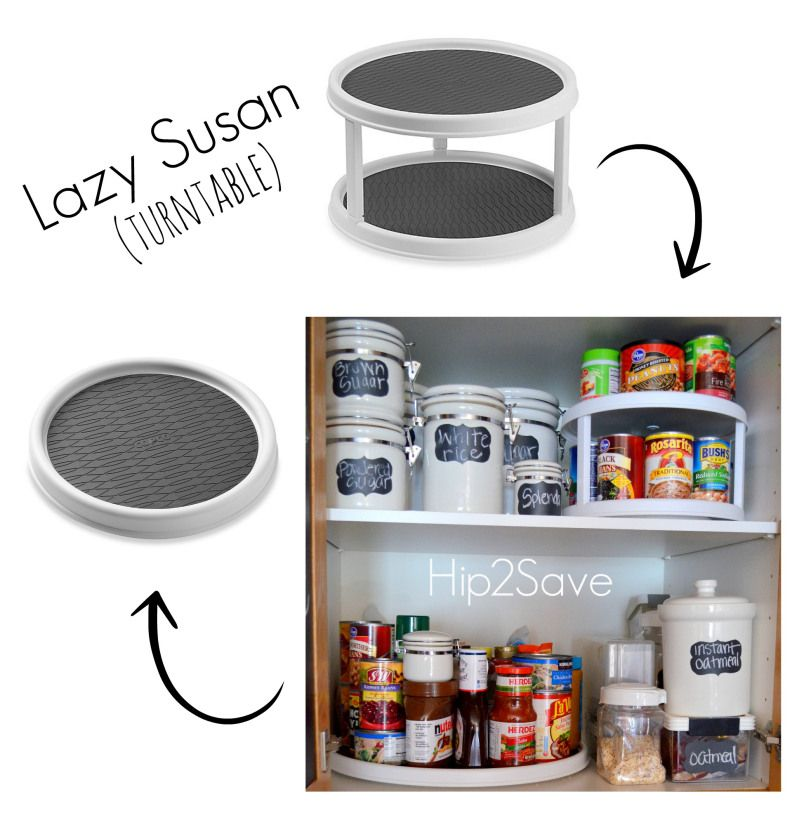 love this idea lazy susan for pantry organization hip2save pantry organization organization on kitchen organization lazy susan id=92645