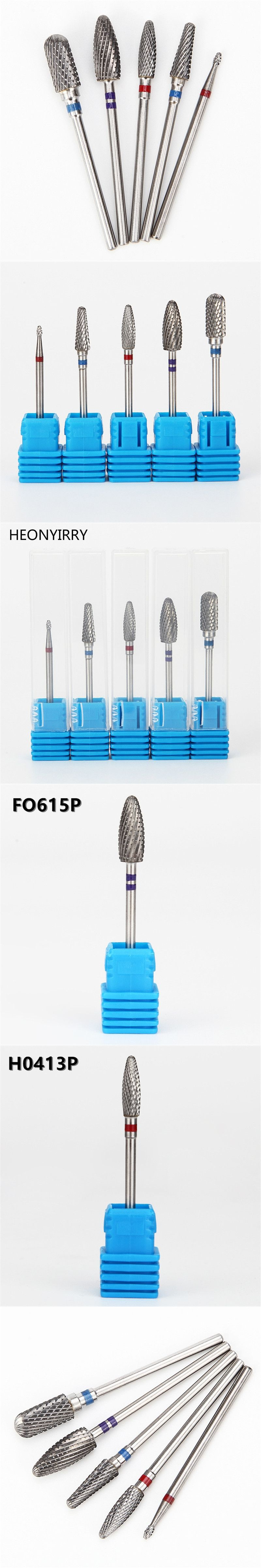 5 Type Diamond Nail Drill Bit Rotate Burr Milling Cutter Bits For ...