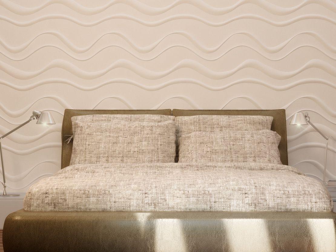 Panel de pared 3d de yeso para interiores onde colecci n for Paneles para paredes interiores