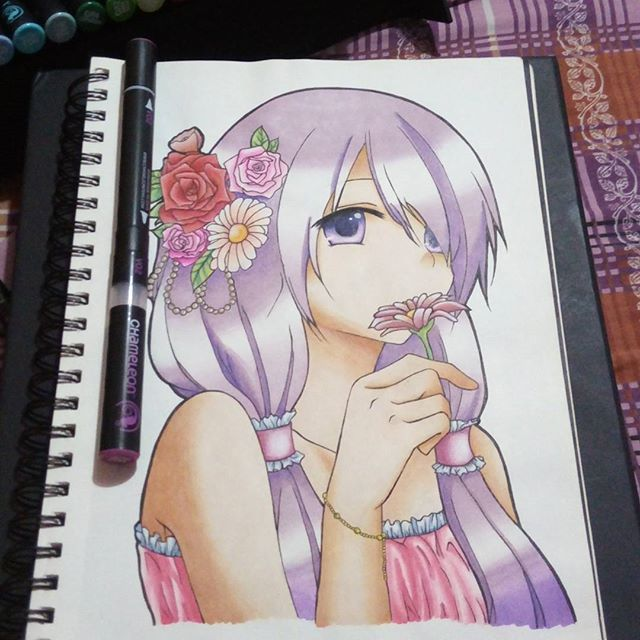 Gorgeous Anime Drawing By Sofyaserpas Using Their Chameleon Pens Chameleonpens Pen Marker Alcoholmarkers Colour Color Co Marker Art Art Anime Drawings