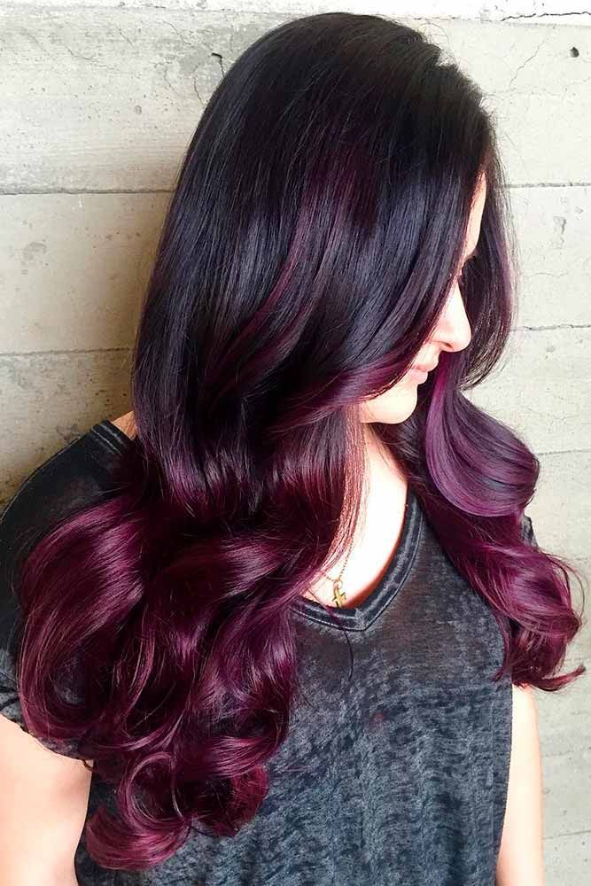 30 Purple Red Hair Is The New Black Lovehairstyles Com Ombre Hair Color Hair Color For Black Hair Brown Ombre Hair Color