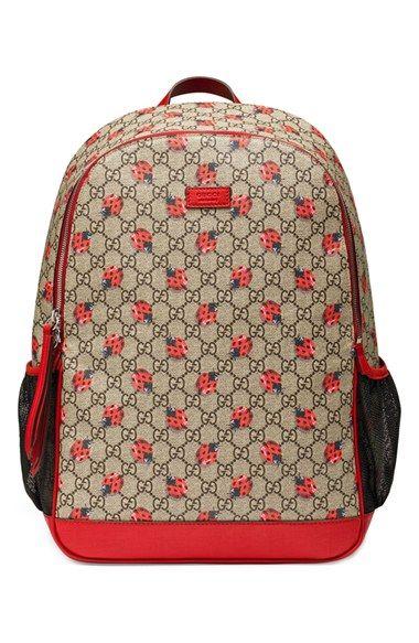2434c828fc3 Gucci  Red Mama  Logo Print Diaper Backpack