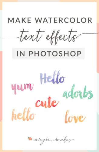 Watercolor Text Effect In Graphic Design Scrapbooking Fonts