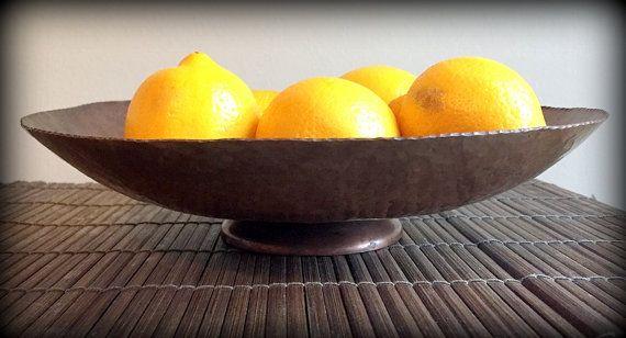 Vintage Copper Fruit Pedestal by RyansBricaBrac on Etsy  #copper #hammered #handmade #fruit #bowl #pedestal #rustic #vintage #kitchen #farm #country #design #decor #decorate #retro #1970s