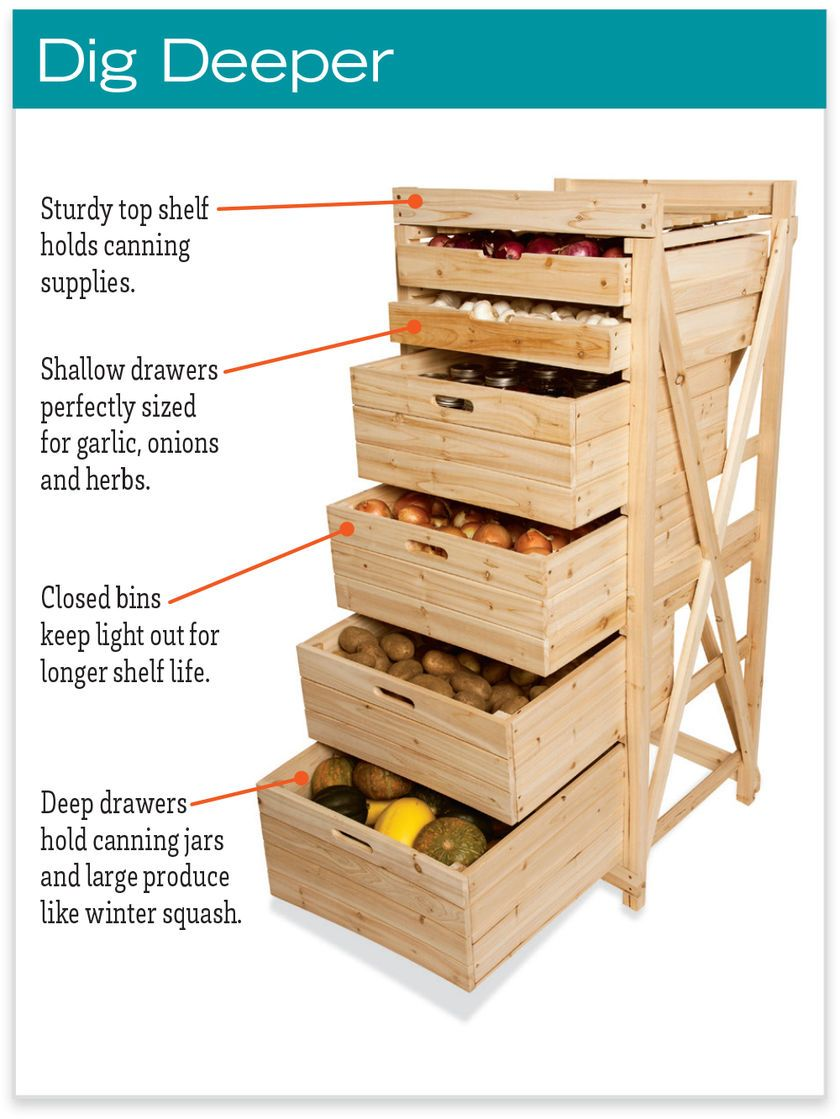 Deep Drawer Harvest Rack Vegetable Storage Bins And Rack Vegetable Storage Vegetable Storage Bin Vegetable Storage Rack