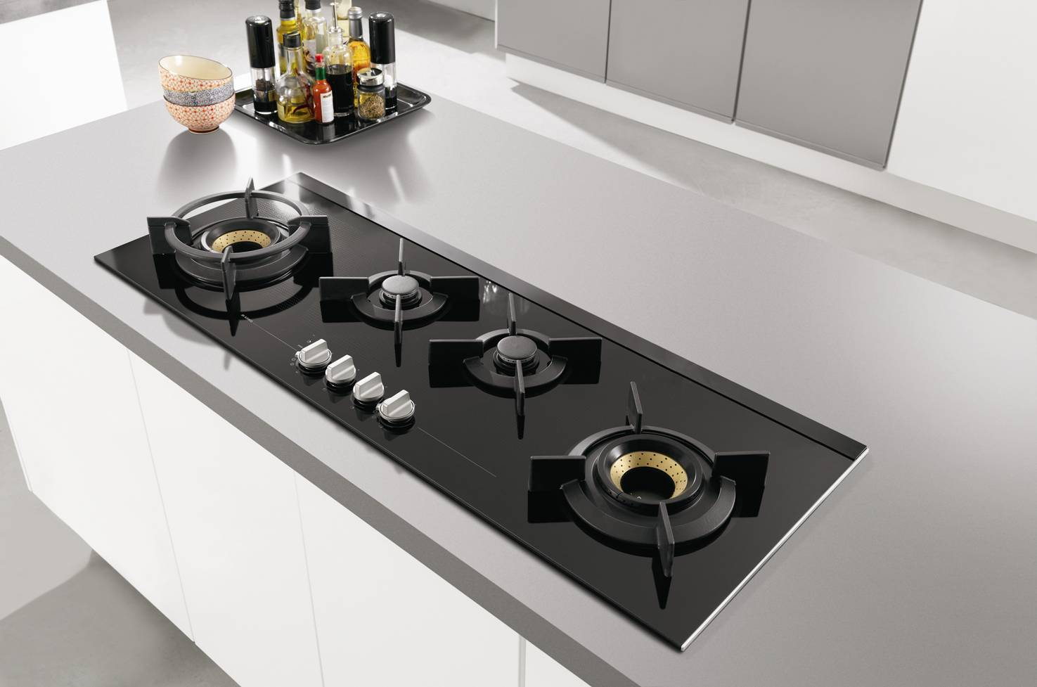 Pro series panoramic gas cooktop asko appliances pro - Plaque induction 4 feux ...