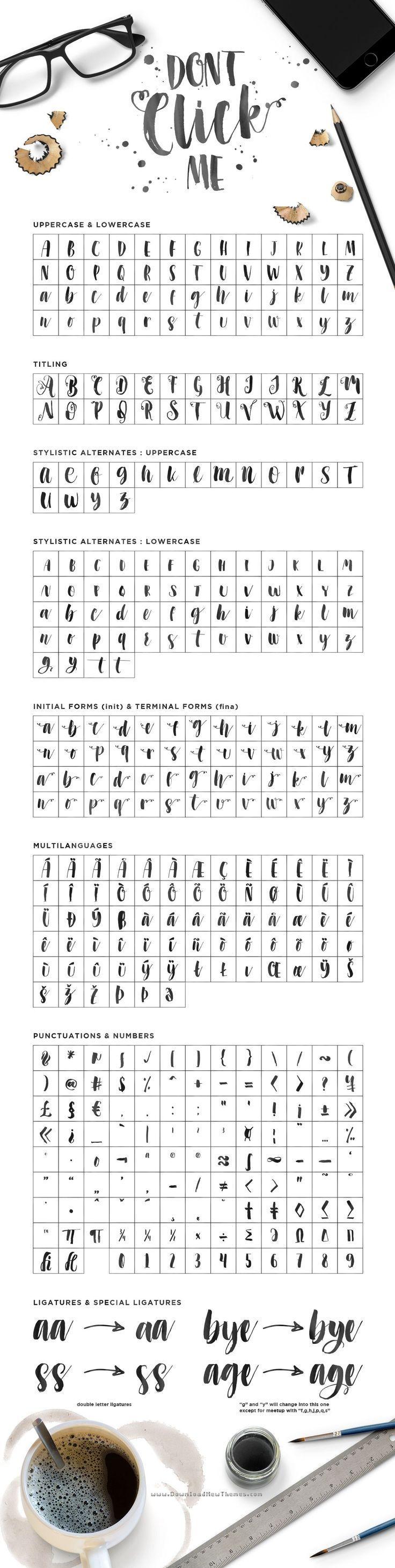 Photo of Übe täglich eine neue Schriftart und werde zum Profi! #Handschrift #Kalligraphie …