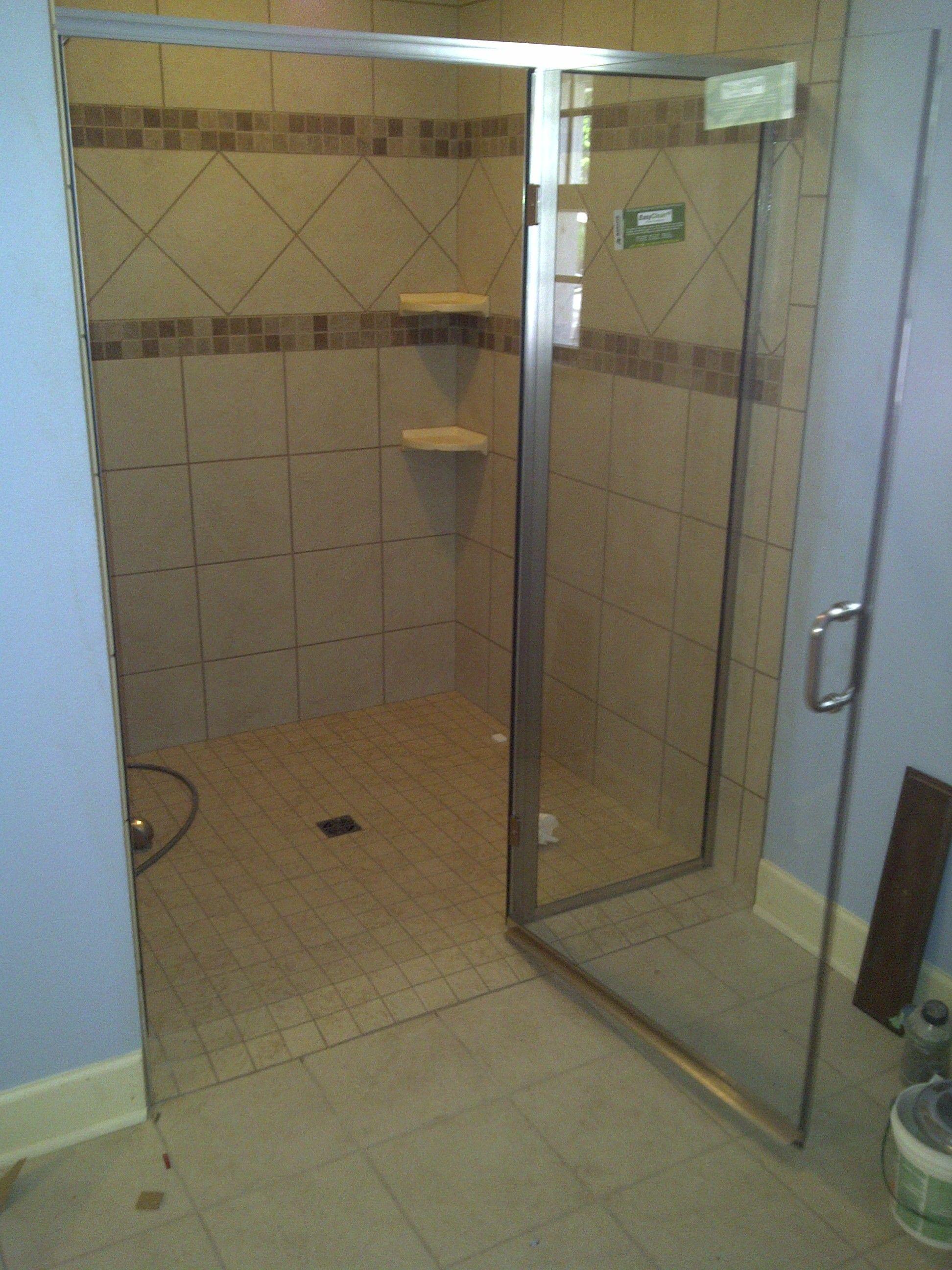 No Threshold Shower Enclosures Handicap 36 Door With No Threshold Semi Frameless Door