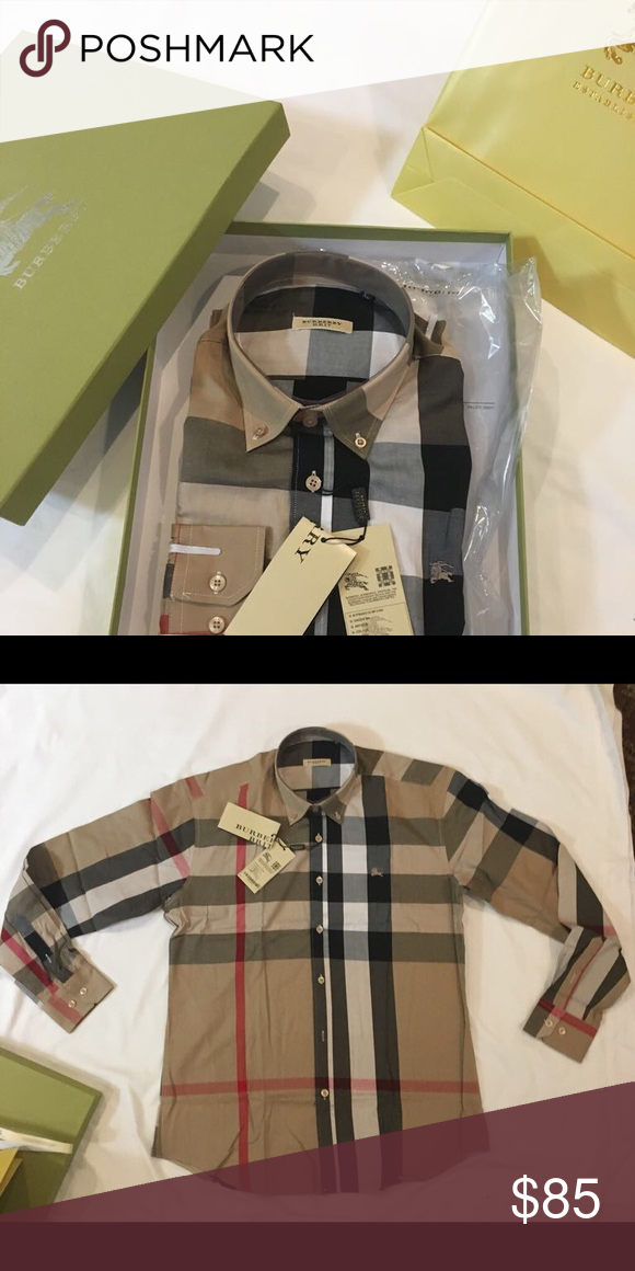 e1d91e498c9e Burberry men s dress shirt Brand new Burberry men s shirt come with  original tag box and bag Burberry Shirts Dress Shirts