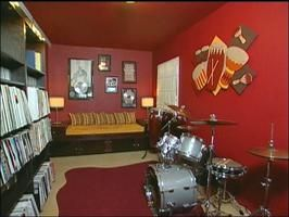 nice warm red for the music room