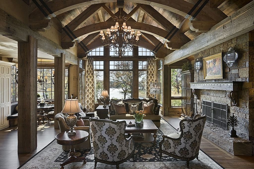 40 Rustic Living Room Ideas To Fashion Your Revamp Around: French Country Dining