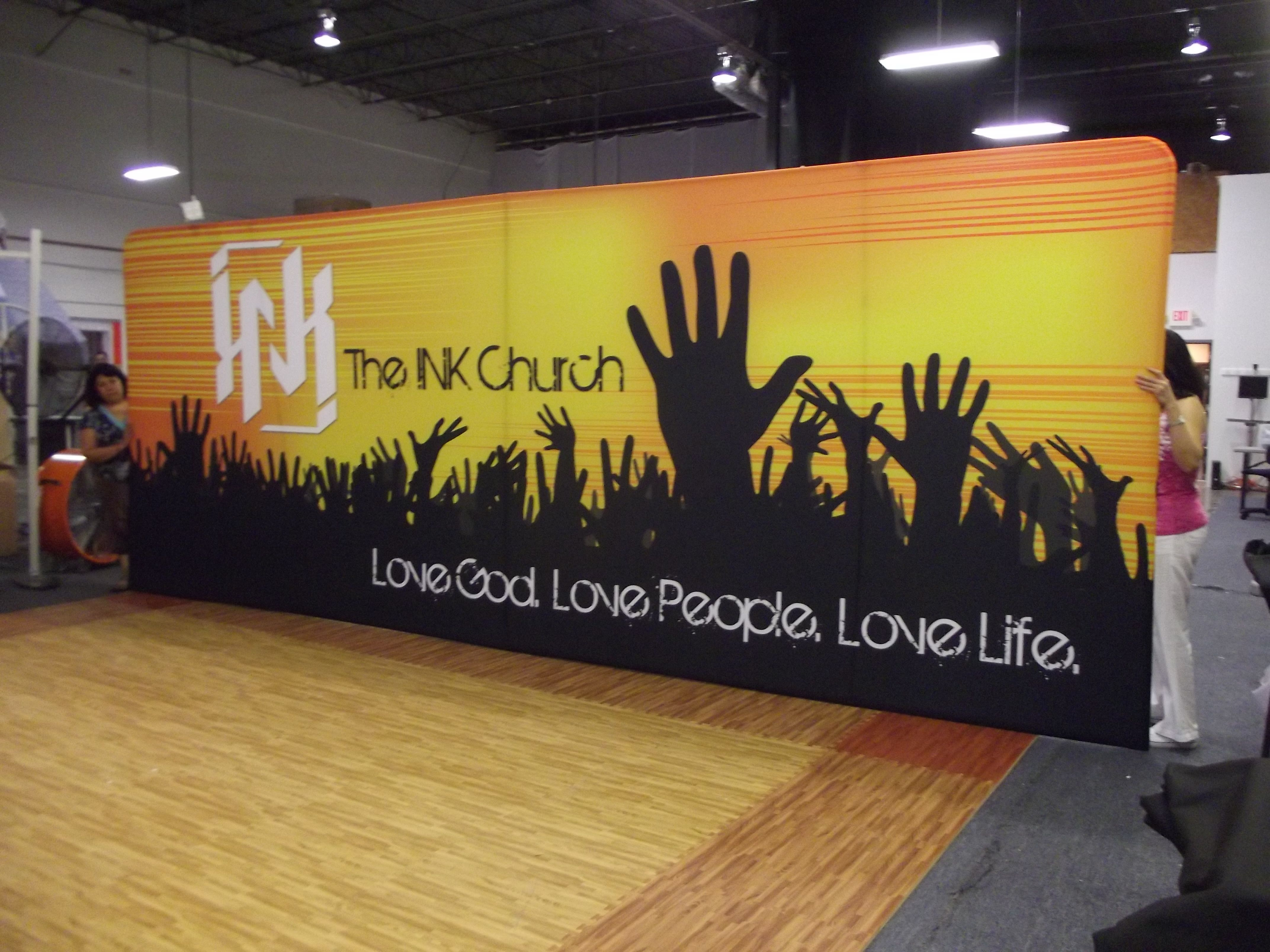 Large Fabric Graphic Backdrops