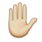 Raised Hand Emoji On Apple Ios 6 0 Hand Emoji Raised Hands Emoji Emoji
