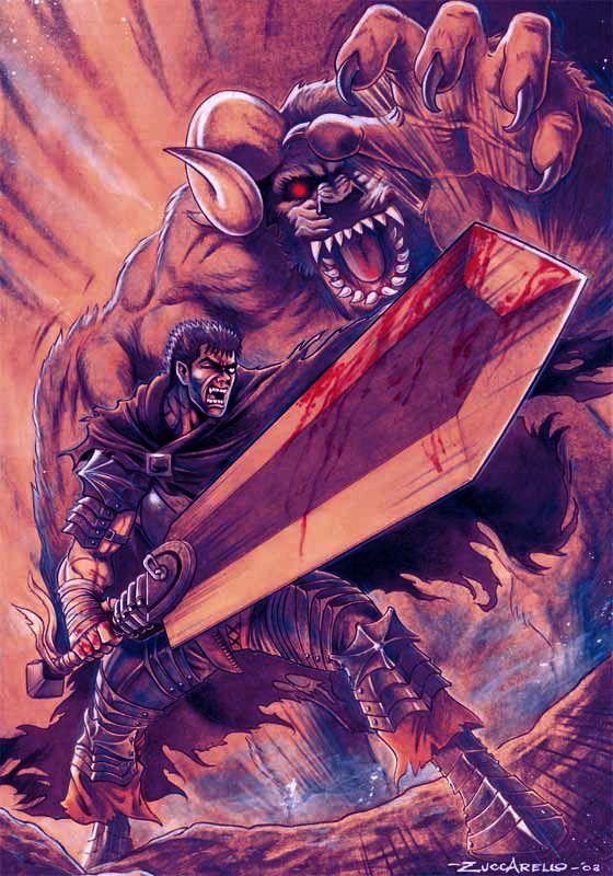 """""""berserk"""" by DeviantArt user Zuccarello.  http://zuccarello.deviantart.com/art/berserk-76091508  Zuccarello's website: http://www.zuccarelloartworks.com/"""
