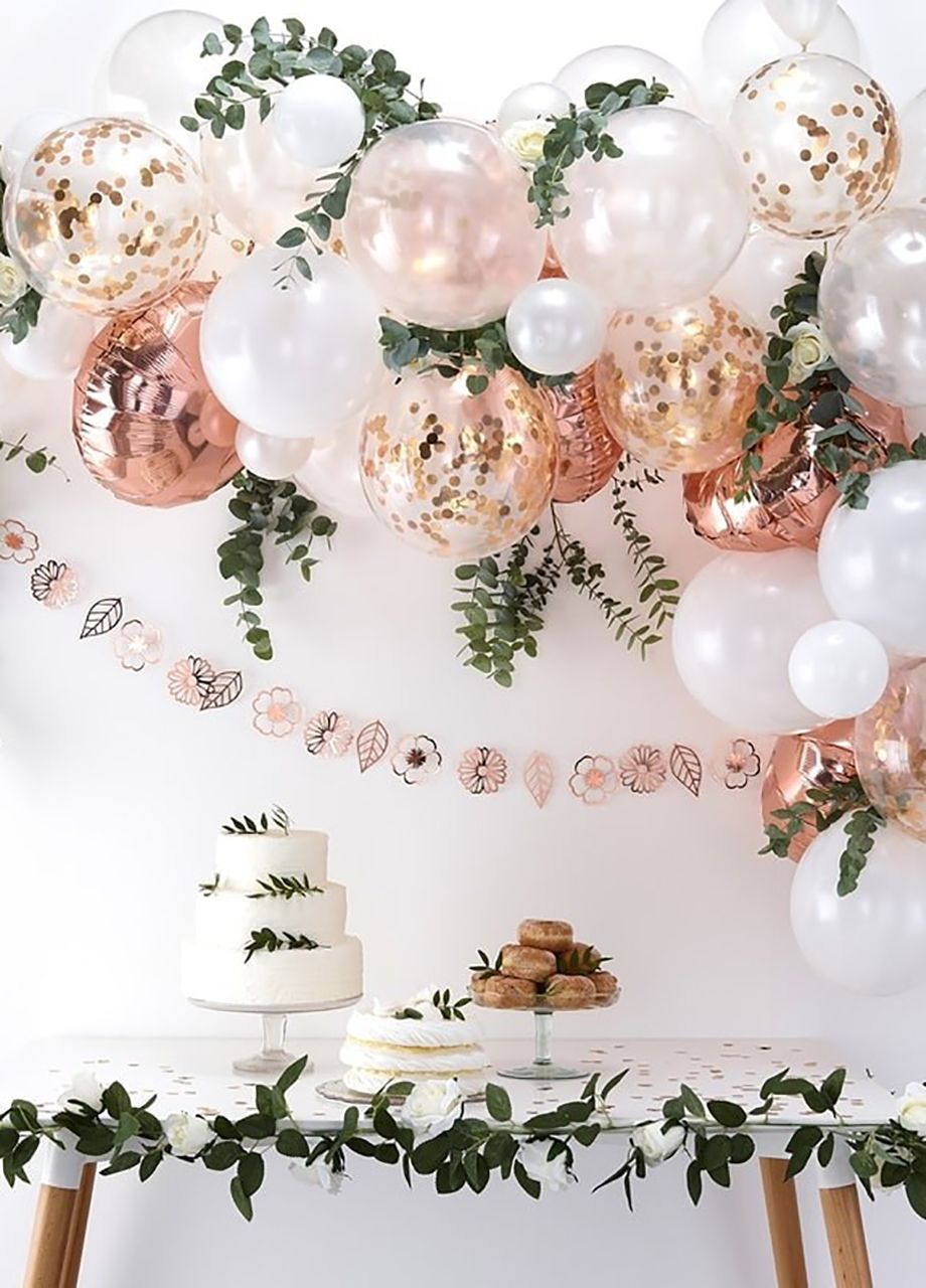 Boho Party Partybox Pl Balonykonfetti Rosegold Balony