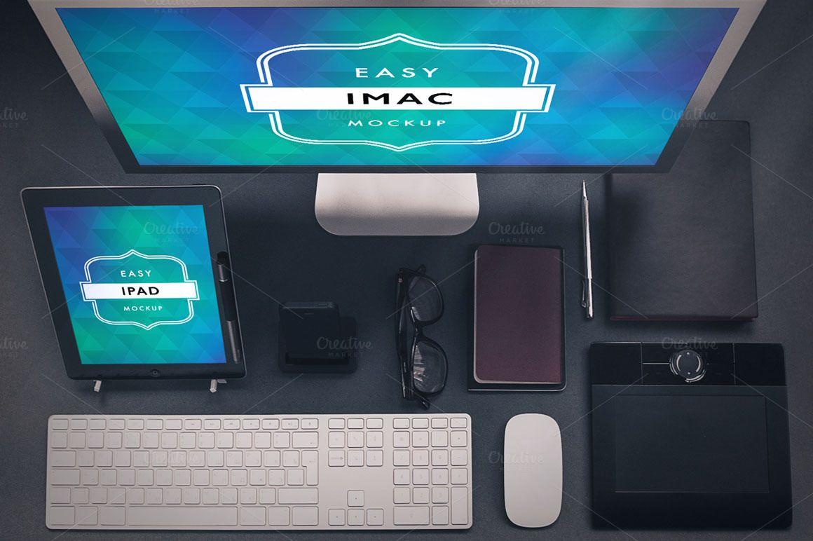 Mockup Ipad and Imac Desktop 5