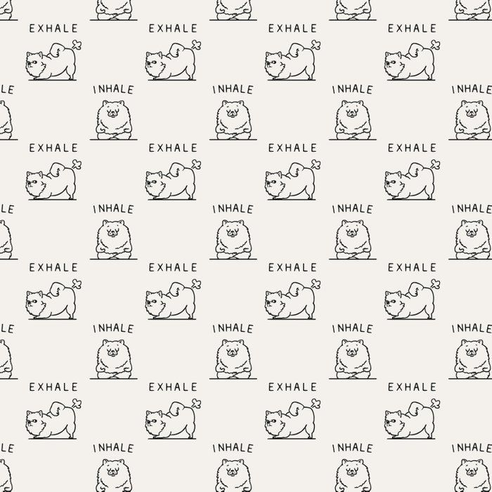 Inhale Exhale Pomeranian Duvet Cover by Huebucket - Queen: 88 x 88