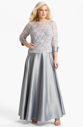 34af00ef1ee JS Collections Lace   Satin Illusion Bodice Gown (Plus) available at   Nordstrom