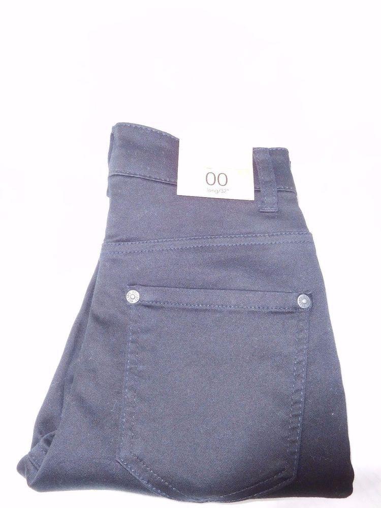 """LIV Delias Hi Rise Skinny Black Jeans Long US Size 00 Long/32"""" NEW !!! #dELiAs #JeansPants"""