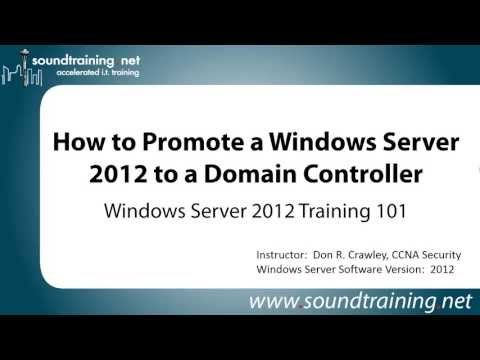 How to Promote Windows Server 2012 to Domain Controller