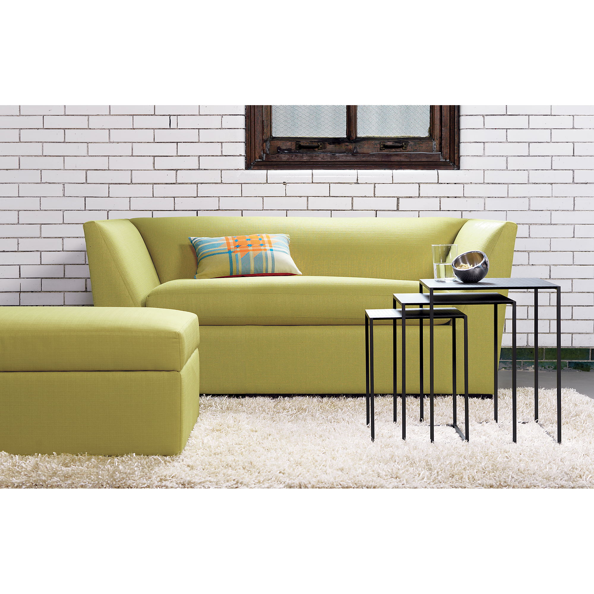 GREAT for a small apartment CB2 Julius Grass Twin Sleeper Sofa