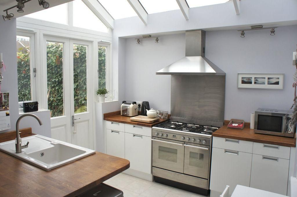 White Kitchen Extensions side return extension conservatory - google search | kitchen ideas