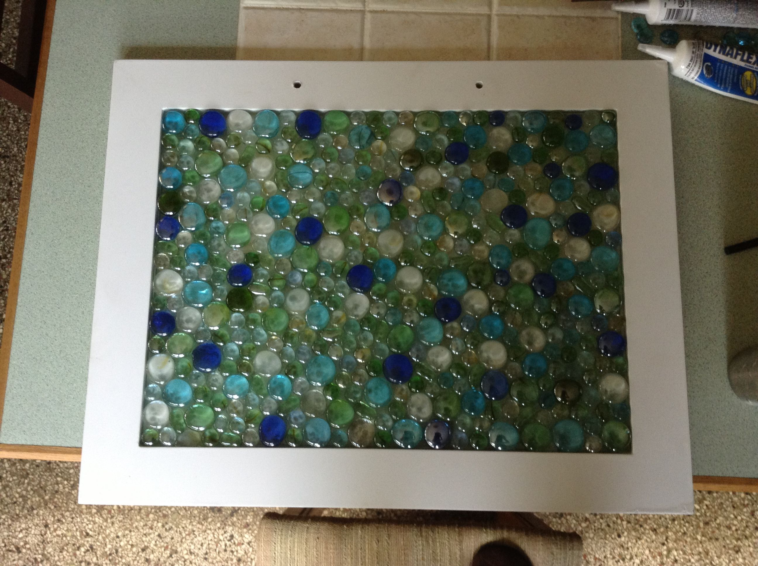 Old Glass Cabinet Door Repurposed For The Garden Spray Painted