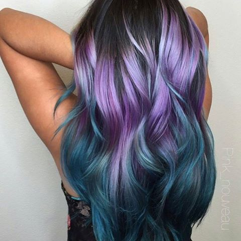Purple Fade Ombre Mermaid Hair Color Purple Ombre Hair Blue Ombre Hair